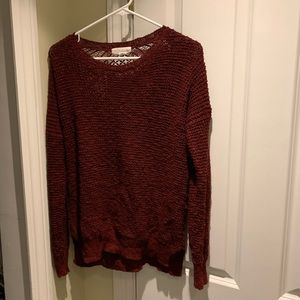 Forever 21 Sweater Small Maroon